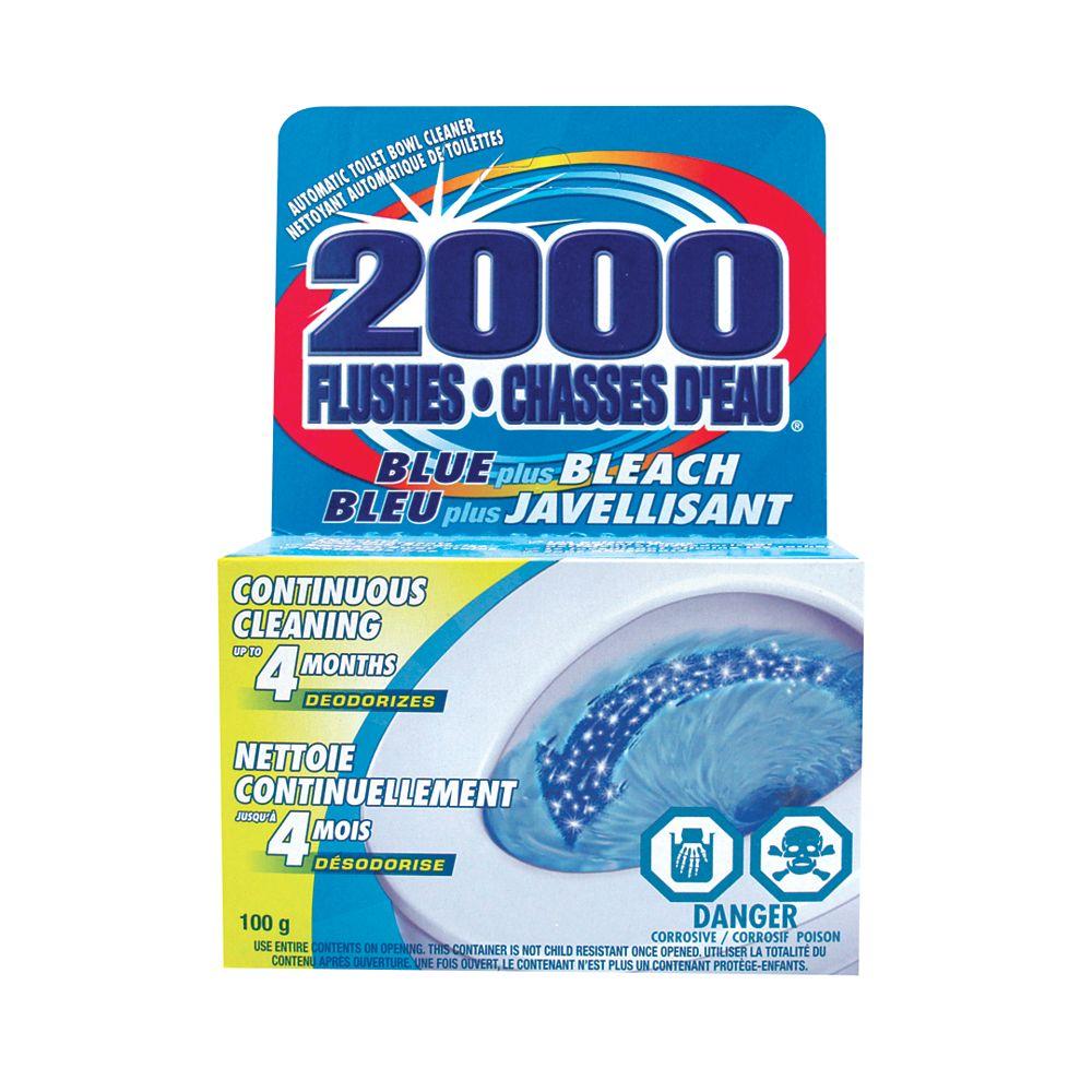 2000 Flushes 100 g - d'eau Bleu plus Javellisant