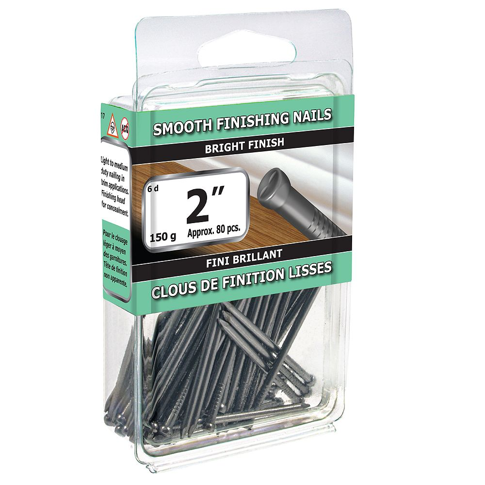 Paulin 2-inch (6d) Smooth Finishing Nails Bright Finish - 150g (approx. 84 pcs. per package)