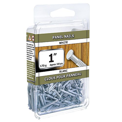 1-inch Panel Nails White - 170g (approx. 305 pcs. per package)