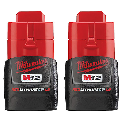 M12 12-Volt Lithium-ion rechargeable Compact 1.5Ah (2-Pack)