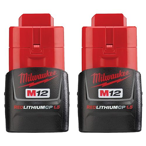 Batterie M12 12V Lithium-Ion Compact (CP) 1,5 Ah REDLITHIUM (2 Pack)