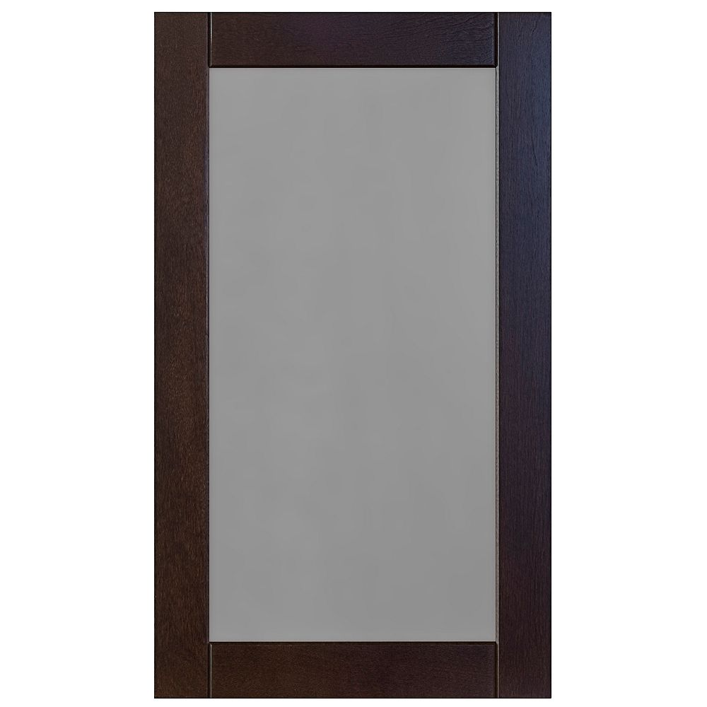 Eurostyle Wood Glass Door Barcelona 17 3/4 x 30 1/8 Choco