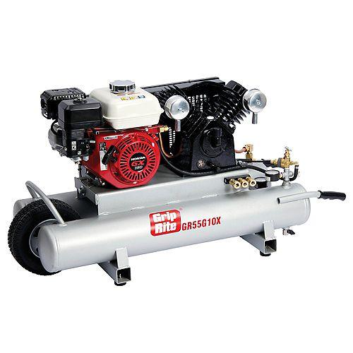 10 Gal. 5.5 HP Portable Gas Powered Wheelbarrow Compressor