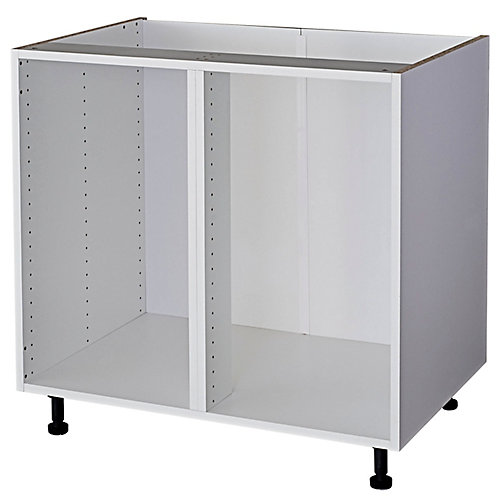 Corner Base Cabinet, White