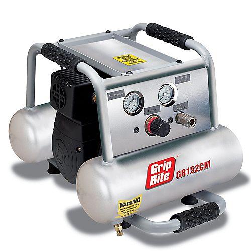 2 Gal. Portable Twin Electric Compressor