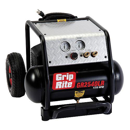 4 Gallon Low RPM Single Tank Wheeled Portable Compressor