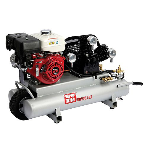 10 Gal. 9.0 HP Portable Gas Powered Wheelbarrow Compressor