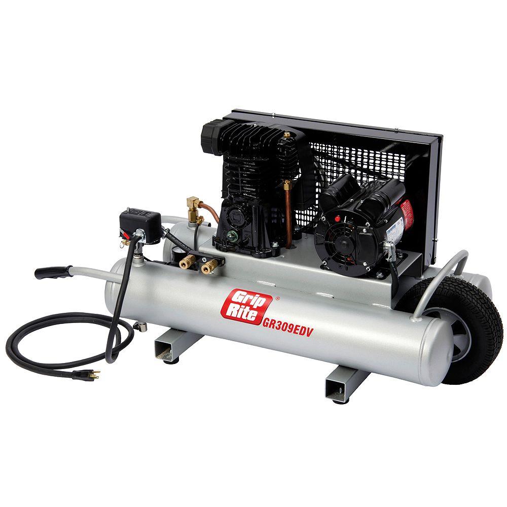 Grip-Rite 9 Gal. 3 HP Portable Powered Wheelbarrow Electric Compressor