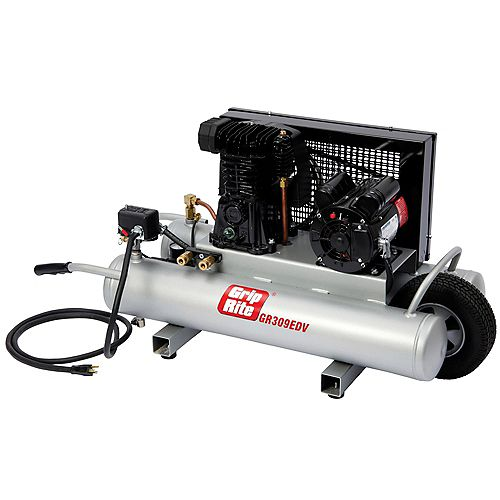 9 Gal. 3 HP Portable Powered Wheelbarrow Electric Compressor