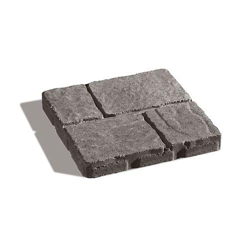 Dalle Quadral nuance gris et charbon