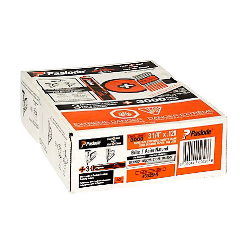 Framing Fuel+Nail Combo Pack (3000 - .120 X 3-1/4 Inch Framing Nails + 3 Orange Fuel Cells)