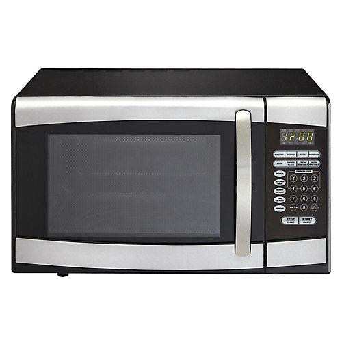 Designer 0.9 cu. ft. Countertop Microwave in Stainless Steel