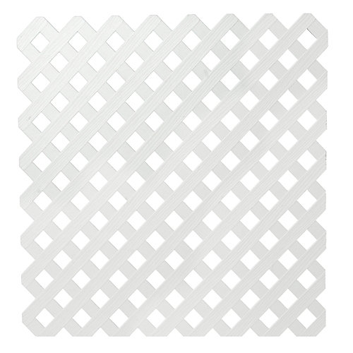 4x8 White Priv Plastic Lattice
