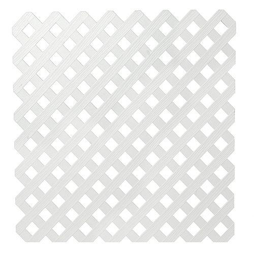 4x8 White Priv Plastic Lattice