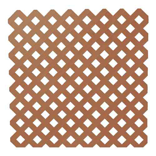 0,2 po x 48 po x 8 pi. Trellis de Plastique d'Intimité de Séquoia