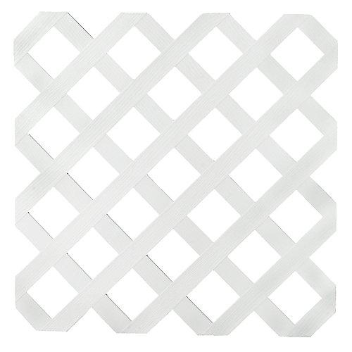 Treillis Régulier Plastique Blanc Veranda 4x8