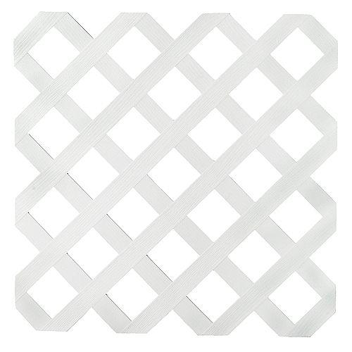 4x8 White Reg Plastic Lattice