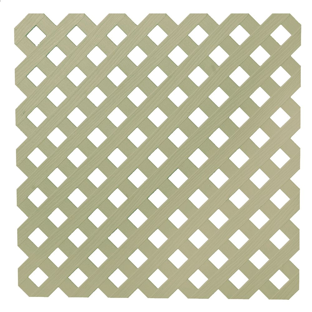Veranda 0.2 Inch x 48 Inch x 8 Feet Khaki Privacy Plastic Lattice