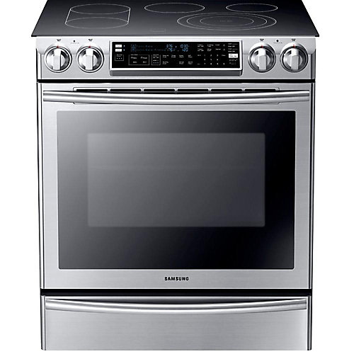 5.8 cu. ft. Double Oven Electric Range with Self-Cleaning Convection Oven in Stainless Steel