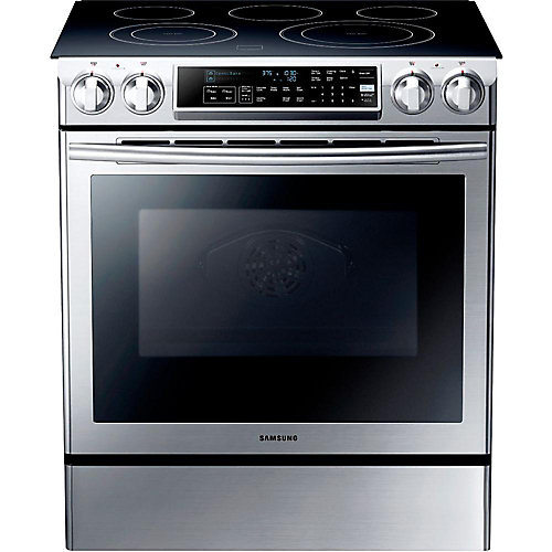 30-inch 5.8 cu. ft. Electric Range with Self-Cleaning Convection Oven in Stainless Steel