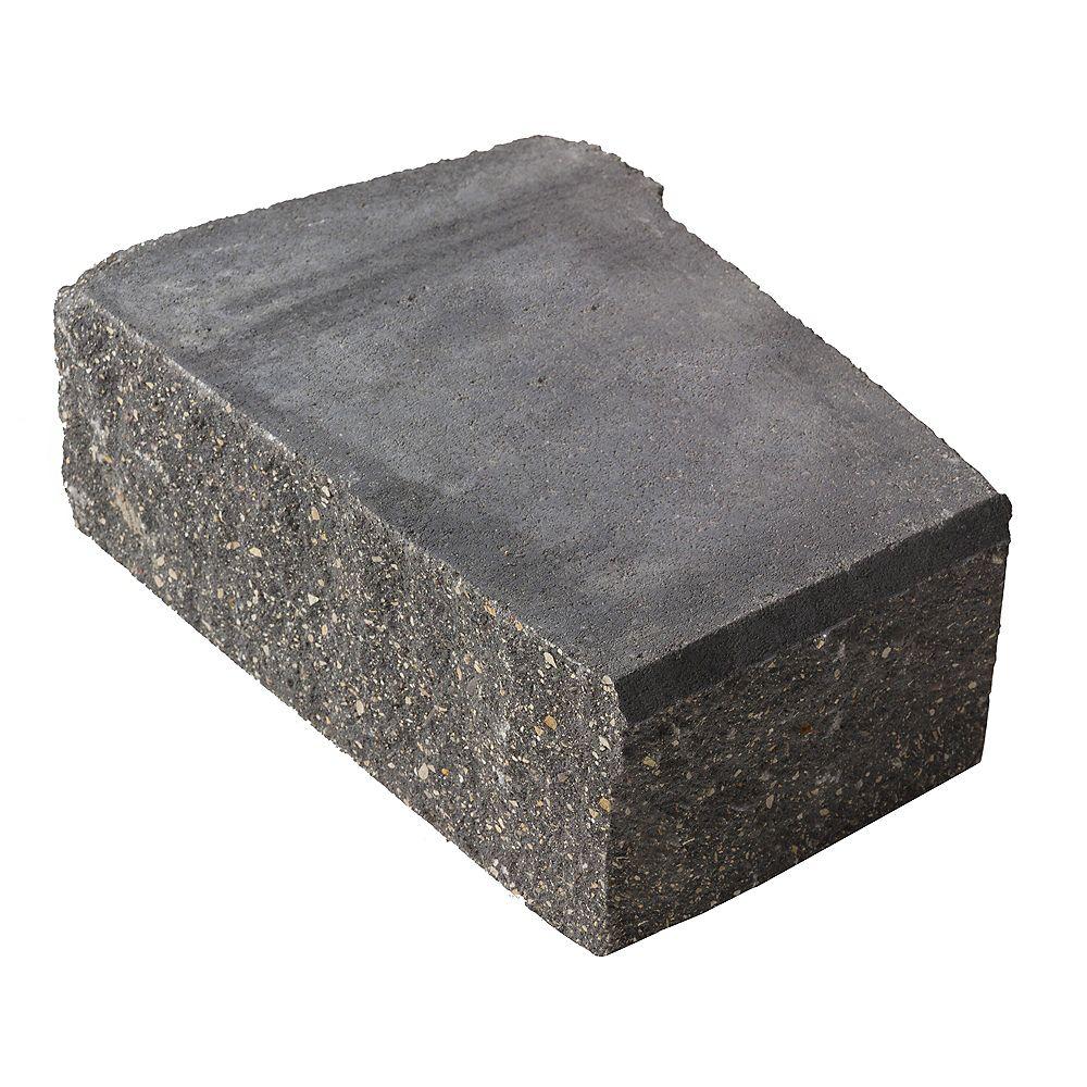 Barkman Bloc d'angle avancé pour mur de soutènement Stackstone, gris charbon