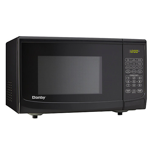 Designer 0.9 cu. ft. Countertop Microwave in Black