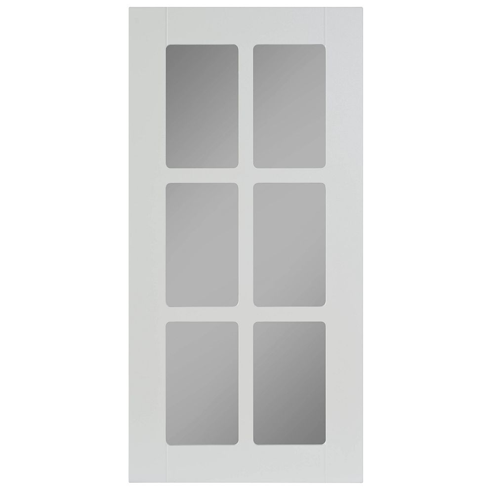 Eurostyle Thermo Glass Door Odessa White The Home Depot Canada