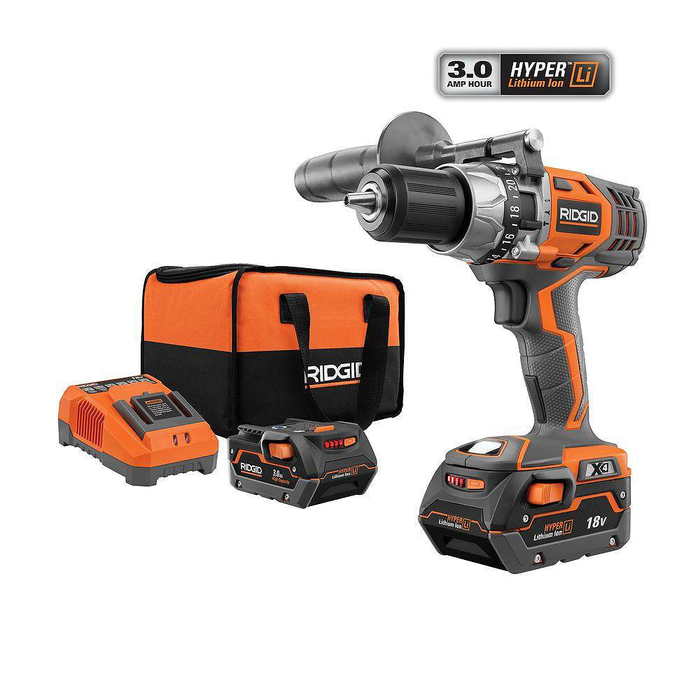 RIDGID Perceuse à percussion/tournevis au lithium-ion de 18 V