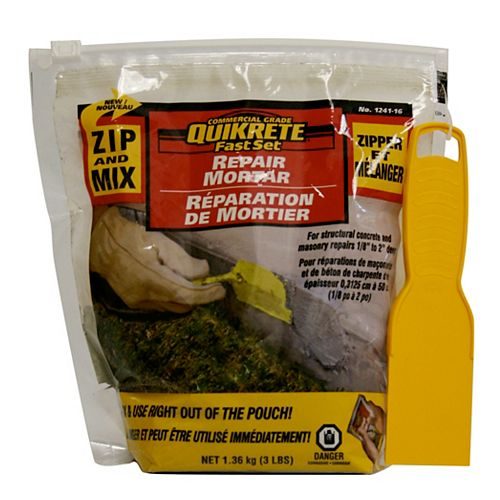 Quikrete Mortier de réparation MIX 'N ZIP 1,36kg