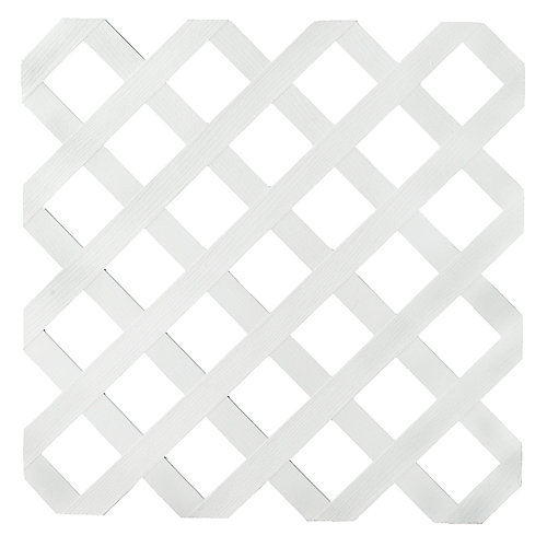 2x8 White Reg Plastic Lattice