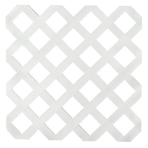 2x8 White Reg Plastic Lattice