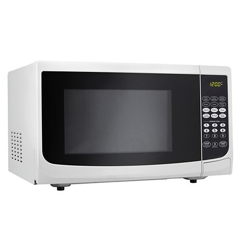 Designer 0.9 cu. ft. Countertop Microwave in White