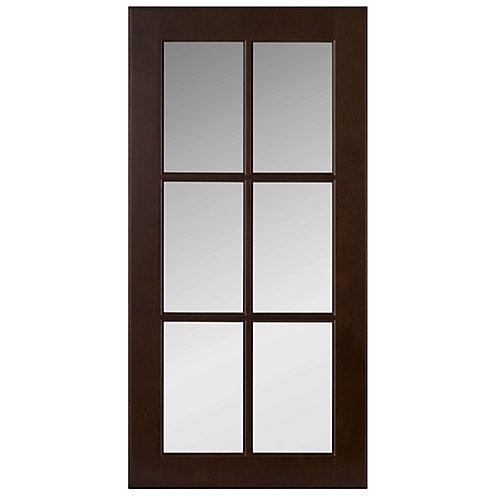 Wood Glass Door Naples Choco