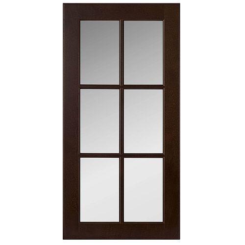 Wood Glass Door Naples Choco