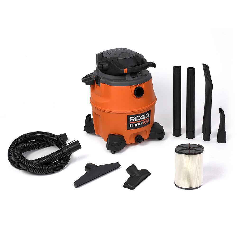 RIDGID 60 Litre (16 Gal.) 6.5 Peak HP Wet Dry Vacuum with Detachable Blower