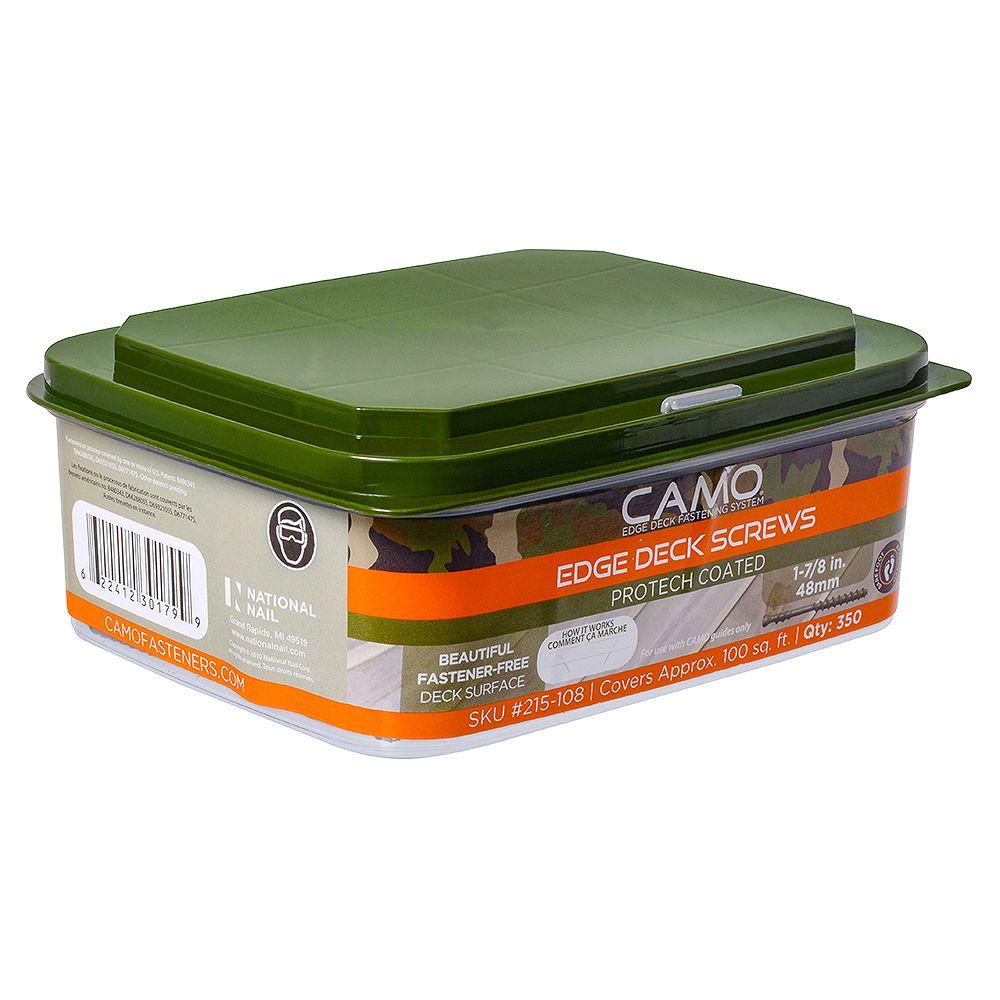 Camo 7 X 1-7/8 pouces Star Drive tête de pont de garniture de tête en vert - 350-pièces