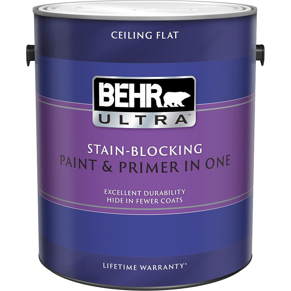 BEHR ULTRA Stain Blocking Ceiling Paint, 3.79L