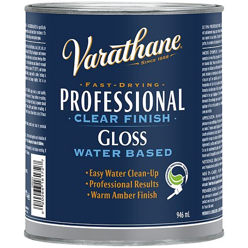 Professional Water-Based Clear Finish In Gloss Clear, 946 Ml