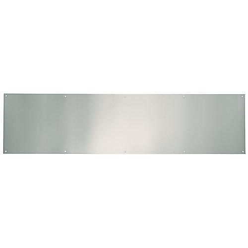 Plaque de bas de porte en nickel satiné de 8pox 34po