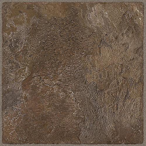 Échantillon - Carreau de revêtement au sol, vinyle de luxe, 12 po x 36 po, Chocolat