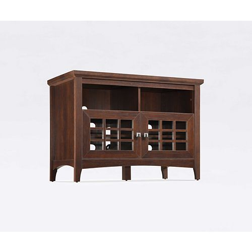 Tall TV Console, Walnut - 42 Inch x 21 Inch x 30 Inch