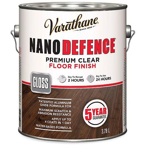 Nano Defence Fini Pour Planchers À Base D'Eau En Clair Lustré - 3.78 L