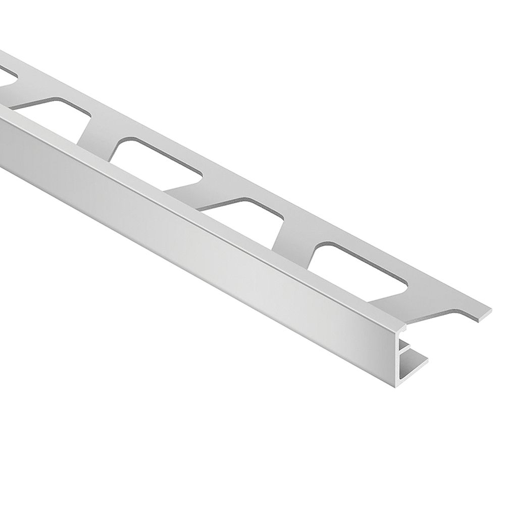 Schluter Jolly Satin Nickel Anodized Aluminum 1/2-inch x 8 ft. 2-1/2-inch Metal Tile Edging Trim