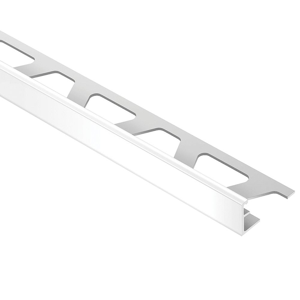 Schluter Jolly Bright White 3/8 in. x 8 ft. 2-1/2 in. PVC L-Angle Tile Edging Trim