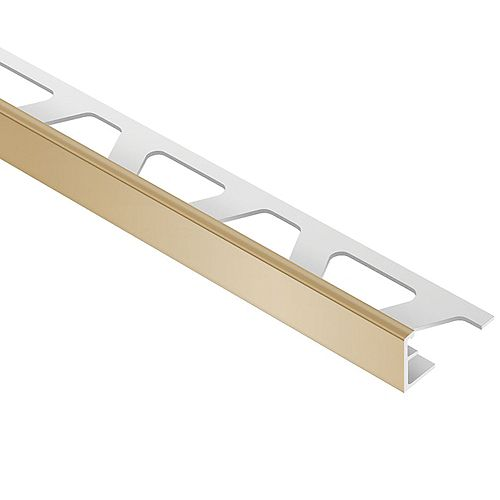 Jolly Light Beige 5/16 in. x 8 ft. 2-1/2 in. PVC L-Angle Tile Edging Trim