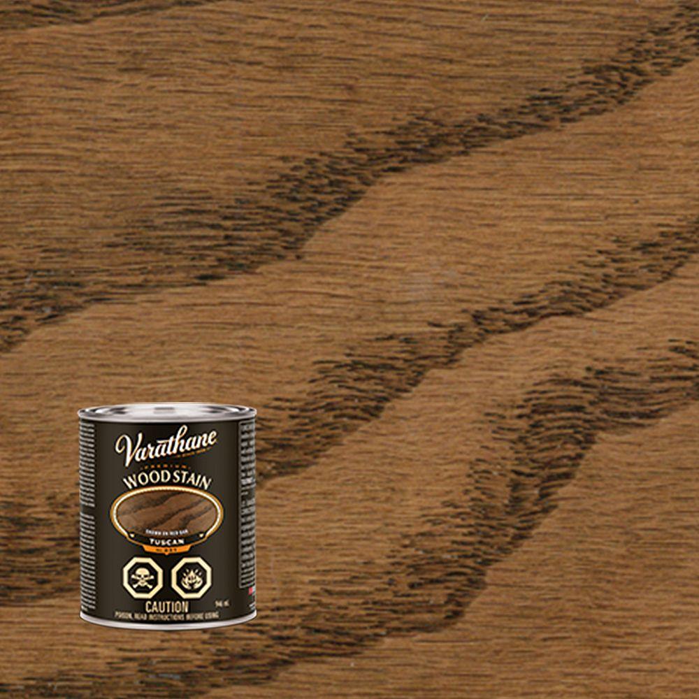 Varathane Premium Teinture d'intérieur pour bois à l'huile dans la teinte Toscan, 946 mL