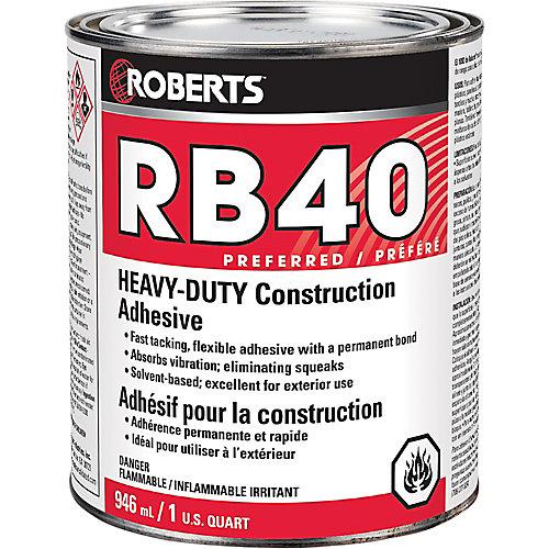 946 mL RB40 Heavy-Duty Construction Adhesive