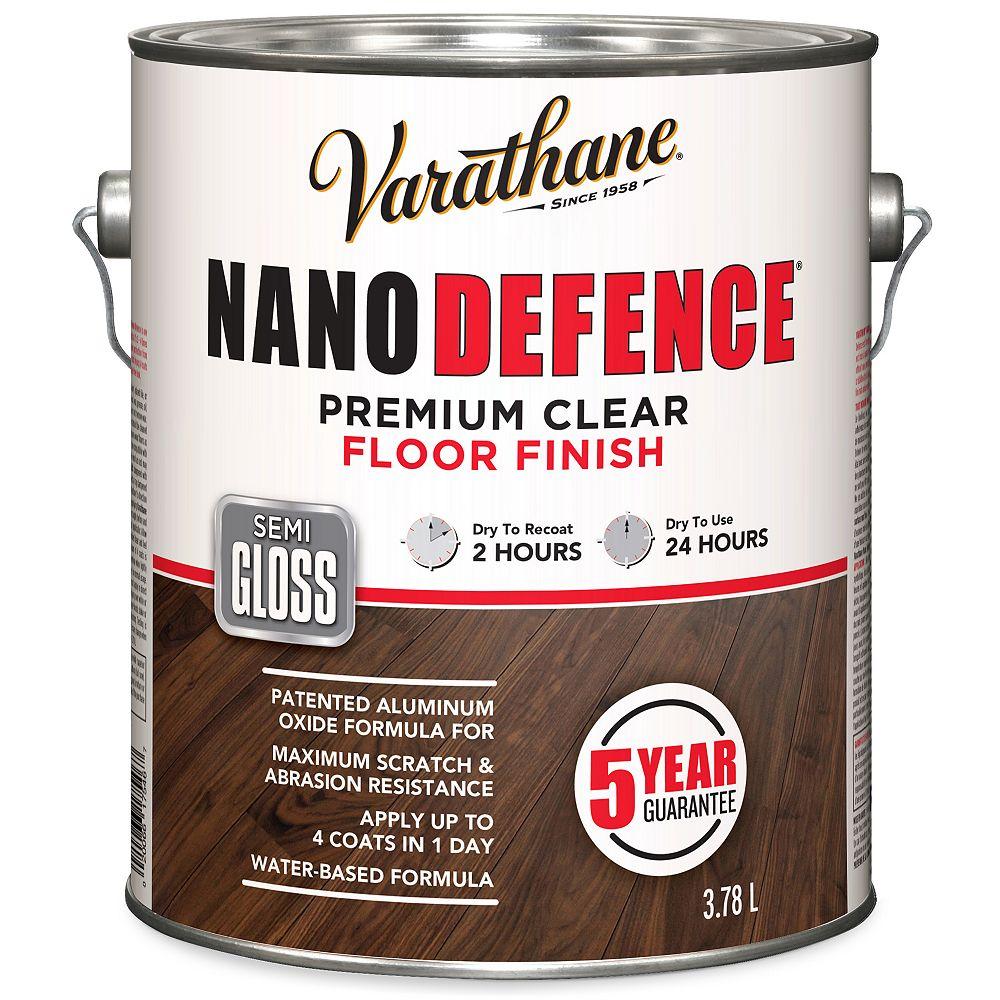 Varathane Nano Defence Fini Pour Planchers À Base D'Eau En Clair Semi-Lustré - 3.78 L
