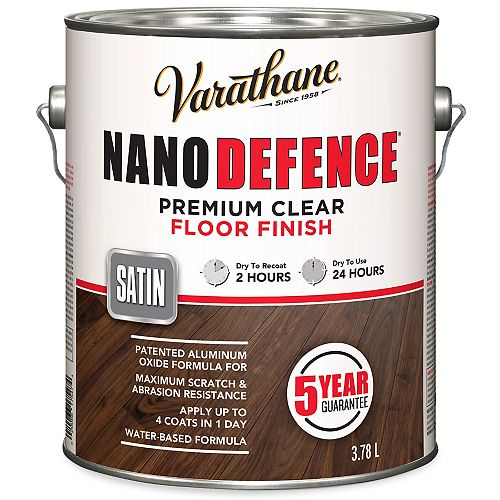 Varathane Nano Defence Premium Clear Floor Finish In Satin Clear, 3.78 L