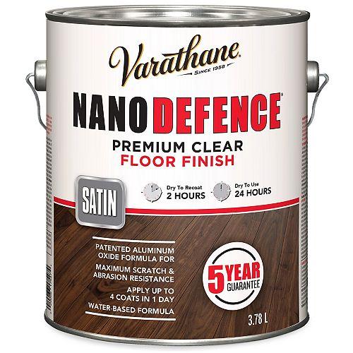 Nano Defence Fini Pour Planchers À Base D'Eau En Clair Satiné - 3.78 L